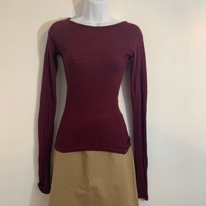 Brandy Melville Sweaters - Brandy Melville burgundy Sweater top. One size